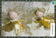 Adventskalender zwei goldene Engel aus 98480/8