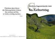 Faltkarte 80. Geburtstag - Baum