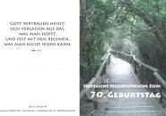 Faltkarte - 70. Geburtstag Weg