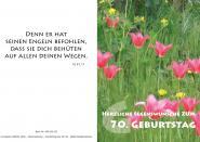 Faltkarte - 70. Geburtstag Tulpe