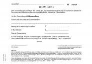 Bestätigung über Zuwendung - 3fach selbstdurchschreibend