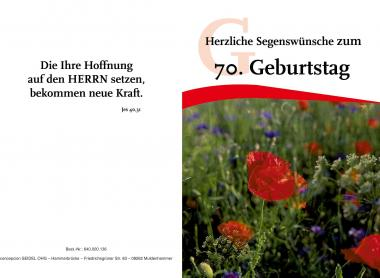 Faltkarte 60. Geburtstag - Blume