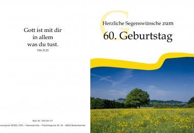Faltkarte 60. Geburtstag - Landschaft