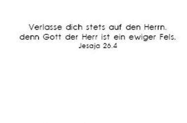 Einleger Jesaja 26,4 - 110x167 mm - quer