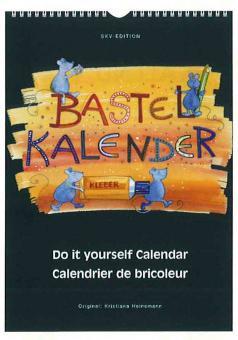 Bastelkalender schwarz, 20 x 17,2 cm, schwarz