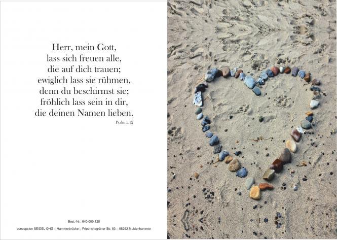 Hochzeitsurkunde - Herz/Steine