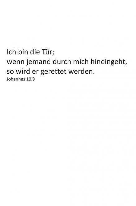 Einleger Johannes 10,9 - 110x167 mm - hoch