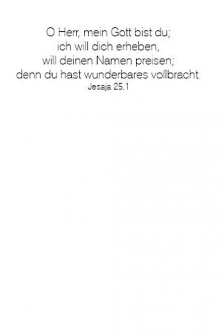 Einleger Jesaja 25,1 - 110x167 mm - hoch