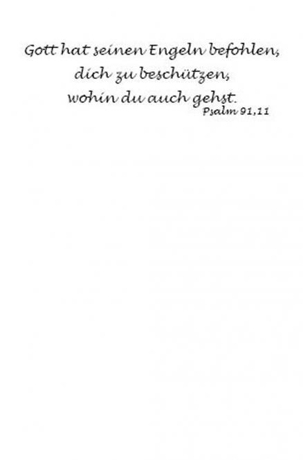 Einleger Psalm 91,11 - 110x167 mm - hoch