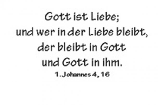 Einleger 1. Johannes 4, 16 - 110x167 mm - quer