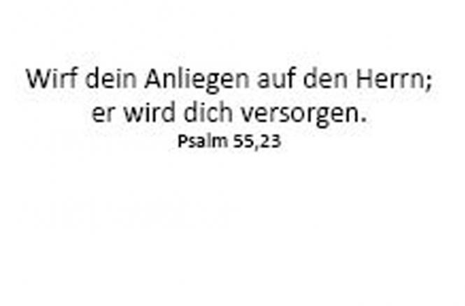 Einleger Psalm 55,23 - 110x167 mm - quer