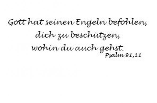 Einleger Psalm 91,11 - 110x167 mm - quer