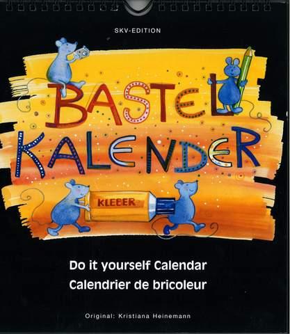 Bastelkalender schwarz, mittel