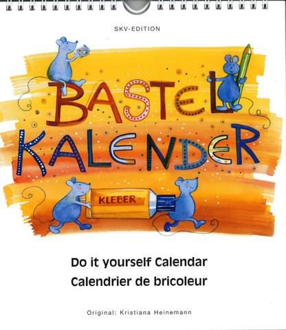 Bastelkalender, weiß, 21,5 x 24 cm