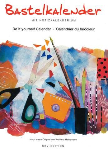Bastelkalender mit Notizkalendarium 21x29,7cm weiß 84751 nach Orig. v. Kristiana Heinemann