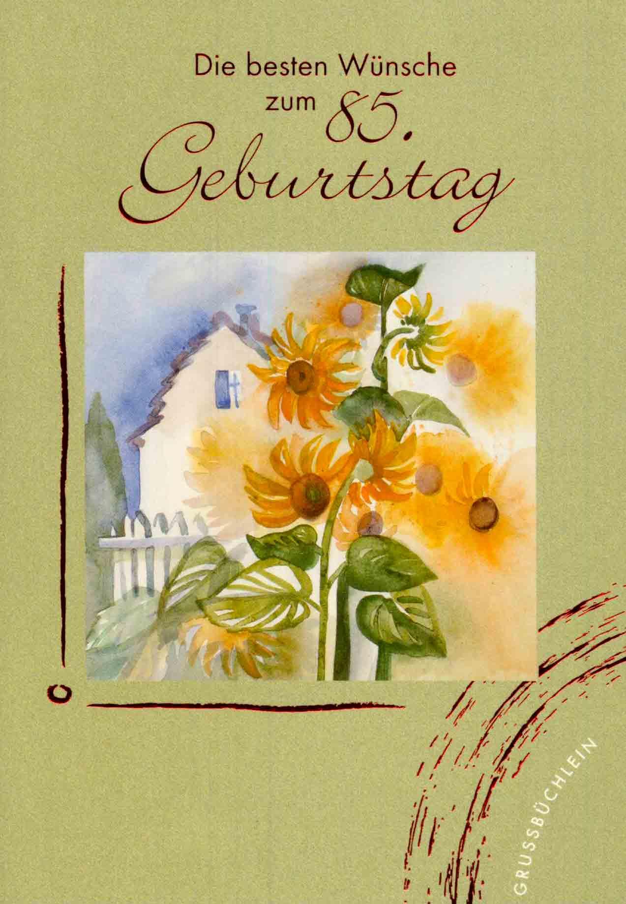 Verlagsshop gru b chlein zum 85 geburtstag b cher - Geschenke zum 85 geburtstag ...